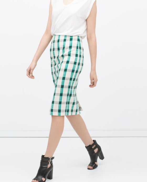 zara woman pencil skirt