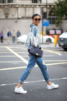 street stle spring 2015 pinterest denim on denim