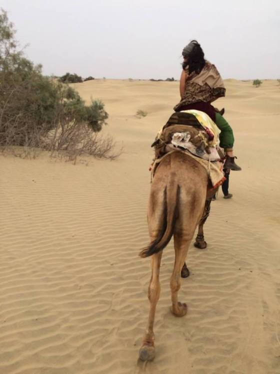 Bahara Seif on camel