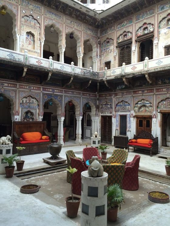 Haveli courtyard in the morning