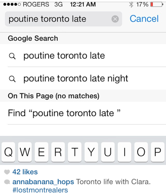 poutine search