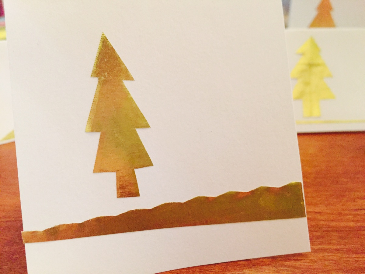 Easy DIY holiday cards