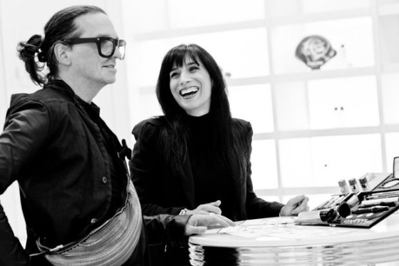 Lancôme collaboration with Denis Gagnon. Photo: Montreal Gazette.