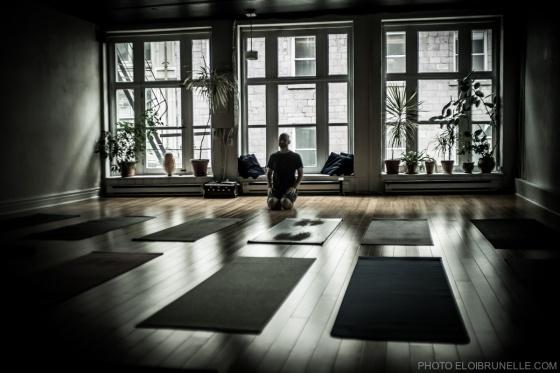 Bram in my favorite spot to do yoga, Luna Yoga.