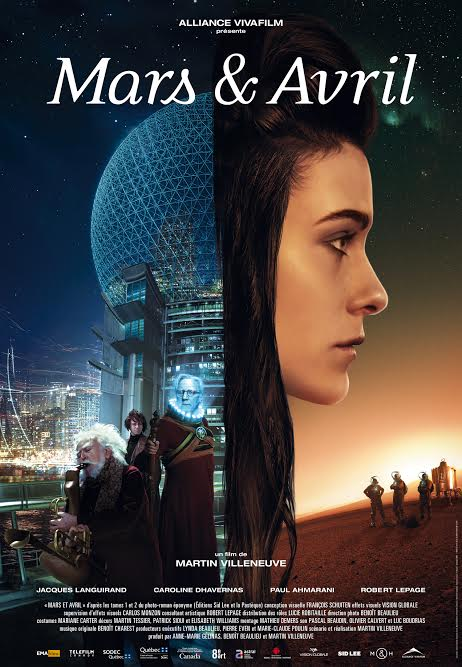 Official poster for Martin Villeneuve's MARS & AVRIL © Mars et Avril inc., 2012
