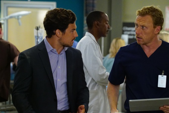 "GREY'S ANATOMY - ""Time Stops"" - The doctors of Grey Sloane Memorial Hospital are forced to put their emotions aside when a catastrophic event occurs, on ""Grey's Anatomy,"" THURSDAY, MAY 7 (8:00-9:00 p.m., ET) on the ABC Television Network. (ABC/Richard Cartwright) GIACOMO GIANNIOTTI, KEVIN MCKIDD © 2015 American Broadcasting Companies, Inc. All rights reserved."